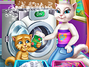 Angela and Ginger Laundry Day