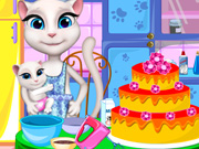 Angela Cooking Cake
