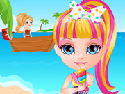 Baby Barbie Beach Slacking
