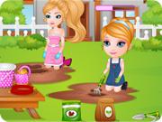 Baby Barbie Learns Gardening