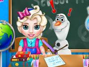 Baby Elsa School Time