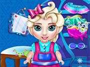 Baby Elsa Wardrobe Cleaning