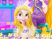 Baby Rapunzel Bath Time