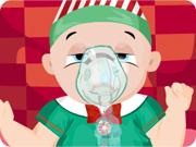 Baby Santa Flu Doctor