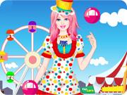 Barbie Clown Princess Dress Up
