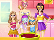 Barbie Family Cooking Berry Pie