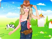 Barbie Farmer Princess Dress Up