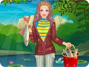 Barbie Fishing Princess Dress Up