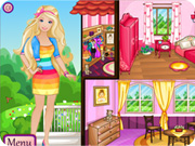 Play barbie house decor sisigames com for All barbie house decoration games