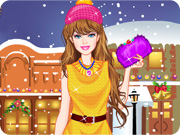 Barbie Winter Shopping Dress Up