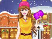 Barbie Winter Shopping Dress Up