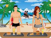Beach Serving Game