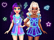 BFF Neon Fashion Dress Up