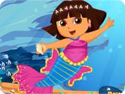 Cute Dora Mermaid Dress Up