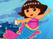 Cute Dora Mermaid Dressup