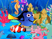 لعبة ديكور حوض الاسماك