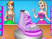 Elsa and Anna Shoe Decor