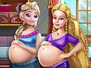 Elsa and Ellie Pregnant BFFs