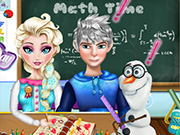 Elsa  And Jack Homework Slacking