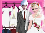 Elsa and Jack Wedding Dress up