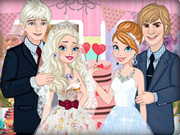 Frozen Sisters Wedding Party