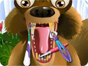 لعبة السنجاب الصغير عند طبيب الاسنان
