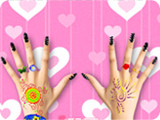 Party Nail Make Up