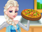 Pregnant Elsa Cooking Pizza