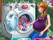 Pregnant Princess Laundry Day
