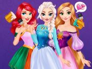 Princesses Rainbow Dresses