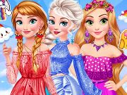 Princesses Rainbow Dressup H5