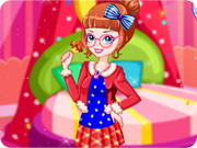 Rainbow Girl With Lollipop