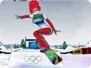 Winter Olympics Snowboarder Girl